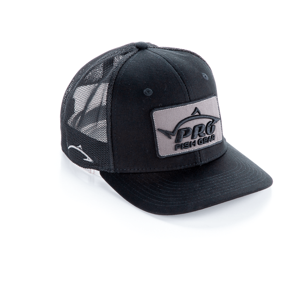 *NEW* Pro Fish Gear Spec Ops Black Snapback Hat - Line Cutterz NEW*