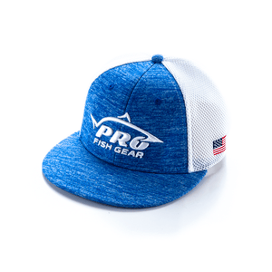 *NEW* Pro Fish Gear Ultra-Fit A-Flex Heather Blue Hat Hats Line Cutterz