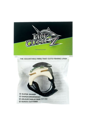 Line Cutterz Custom Printed Logo Ring in Ivory with GREEN Logo Cutter Ring Line Cutterz