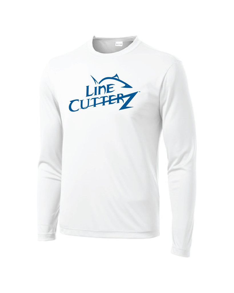 Line Cutterz Poly Sport LS Shirt in White