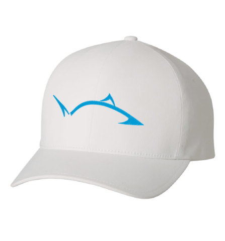 *NEW* Flexfit White Delta Hat with LC Pro Fish Logo