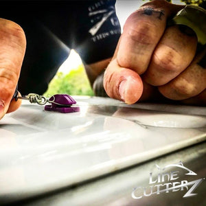 NEW RELEASE! - Line Cutterz Flat Mount Fishing Line Cutter - Purple Flat Mount Line Cutterz