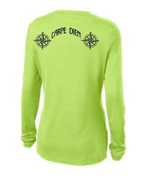 *AS SEEN ON SHARK TANK* Line Cutterz LS WOMEN'S Carpe Diem V-Neck Shirts Line Cutterz Small