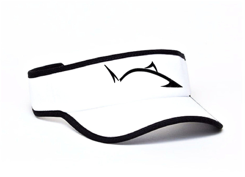 **NEW** Line Cutterz Pro Fish Logo White Visor