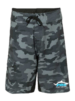 Pro Fish Gear Black Camo Board Shorts Shirts Pro Fish Gear