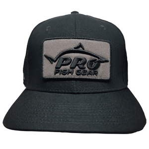 *NEW* Pro Fish Gear Spec Ops Black Snapback Hat