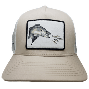 *NEW* Pro Fish Gear Khaki Speckled Trout Snapback Hats Line Cutterz