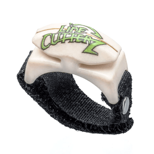 Line Cutterz Custom Printed Logo Ring in Ivory with GREEN  Logo