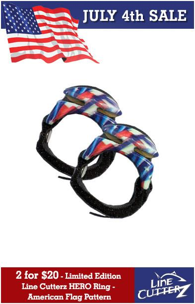 2 for $20 Limited Edition Line Cutterz HERO Rings - American Flag Pattern