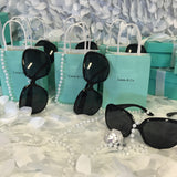 15 Customized Bag, Pearl, and Round Sunglasses Set