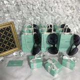 20 Favor Box, Customized Bag, Pearl, and Round Sunglasses Set