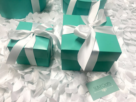 Set of 6 8x8 Favor Boxes With Ribbon