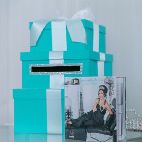3-Tiered Card Box With Ribbon