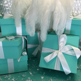 10inch Square Gift Box Centerpiece With Ribbon