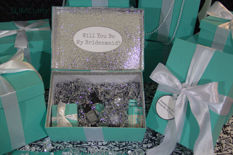 Silver Glam Bridesmaid Proposal/ Bridal Party Keepsake Gift Box