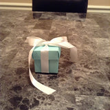 10 Blue Favor Boxes with ribbon 2x2inch