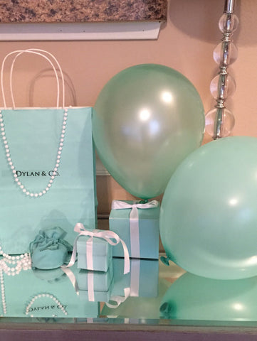 50 Pearlized or Matte Turquoise Blue Latex Balloons