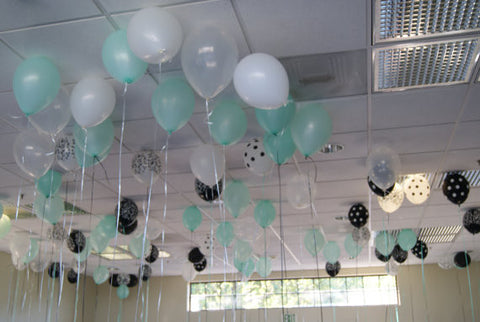 25 Piece Bride/Baby & Co. Mixed Balloon Ceiling Kit