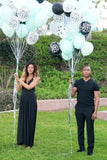 25 Matte or Pearlized Turquoise Blue Latex Balloons