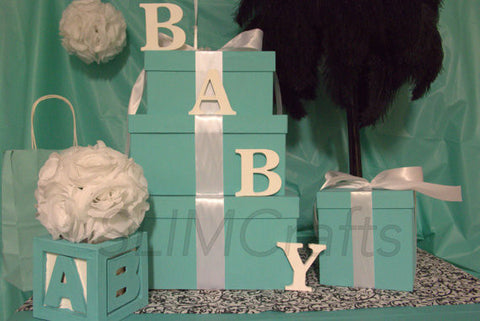 Breakfast At tiffany/Baby & Co Boy Centerpiece Set