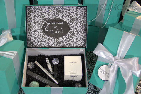3 Glam Bridesmaid Proposal/ Bridal Party Chalkboard Keepsake Boxes