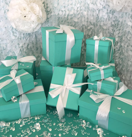 4inch Rectangle Gift Box Centerpiece With Ribbon