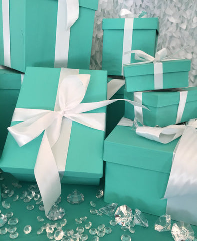 9inch Rectangle Gift Box Centerpiece With Ribbon