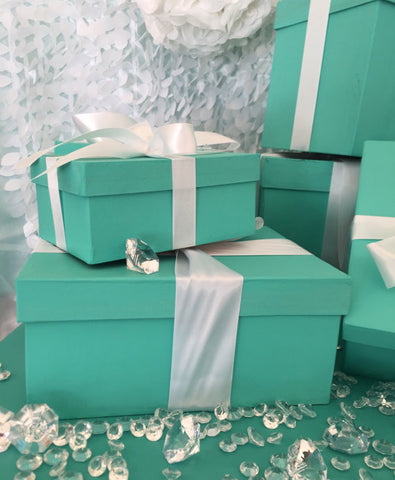 10inch Rectangle Gift Box Centerpiece With Ribbon