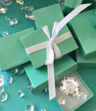 20 Mini Turquoise Favor Gift Boxes With Ribbon