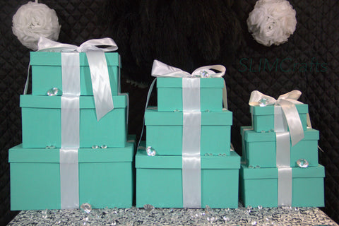 Large 3 Tier Gift Box Centerpiece