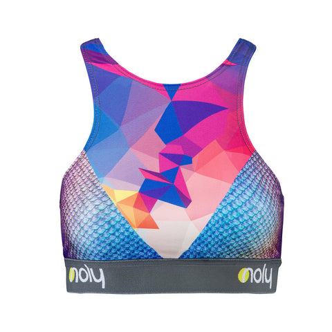 High Neck Sports Bra Geo-Snake
