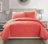 3 Pcs Reversible  Bedspread