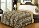 Luxury Bellahome Safari Faux Fur Blanket (Borrego)