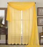1  Piece Solid Sheer Window Curtain