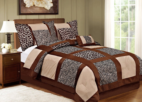 7 Pcs Safari Awad Comforter 6088