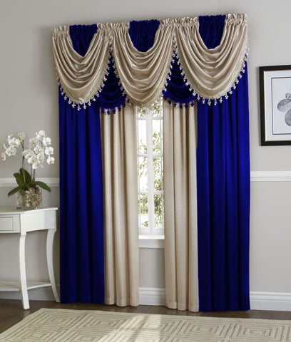 valance modern country living valances wood of size bedroom medium curtains blue for