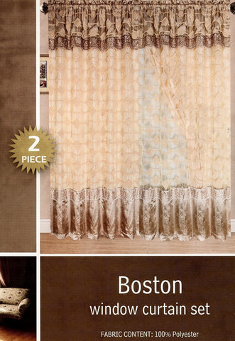 Boston 2 Pieces Curtains