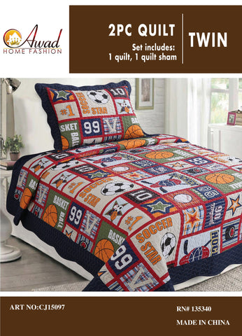 2 Pc Quilt Set Twin Size # 97