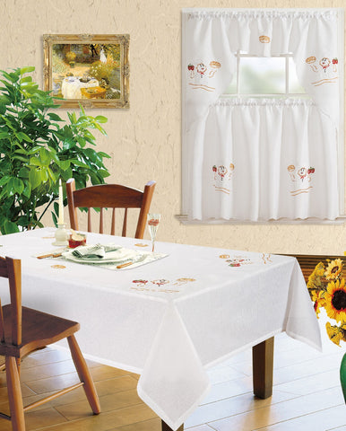 Kitchen Curtains andMatching Tablecloths Layla-631