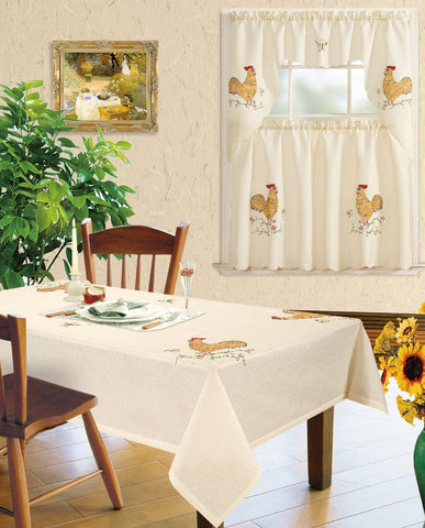 Kitchen Curtain and Matching Tablecloth Layla-633