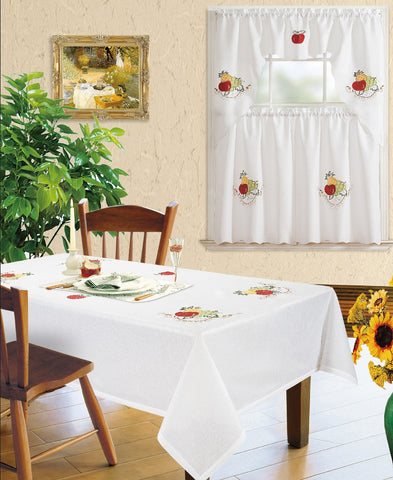 Kitchen Curtain and Matching Tablecloth Layla-634