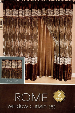 Rome 2 Pieces Curtain