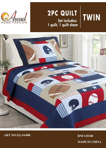 2 Pc Quilt Twin Size # 08