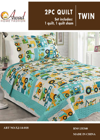 2 Pc Quilt Set Twin Size # 18