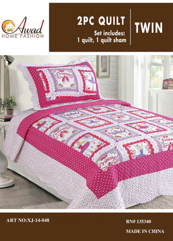 2 Pc Quilt Set Twin Size # 48
