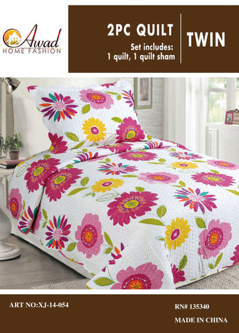 2 Pc Quilt Set Twin Size #54