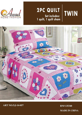 2 Pc Quilt Set Twin Size #57