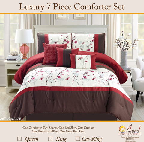 Luxury 7 Pcs Comforter Set  Manar