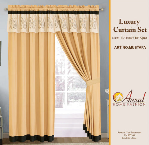 Luxury Curtain Set  Mustafa