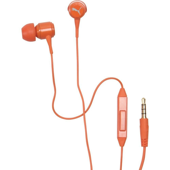 PUMA Roadies In-Ear Headphones with In-line Mic (Orange)